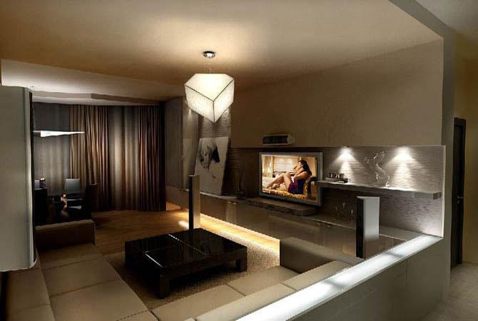 фотодизайн интерьера потолка в квартире