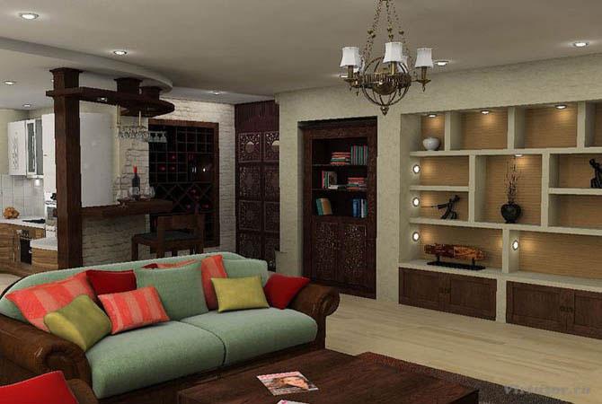 готовые дизайн проекты однокомнатной квартиры