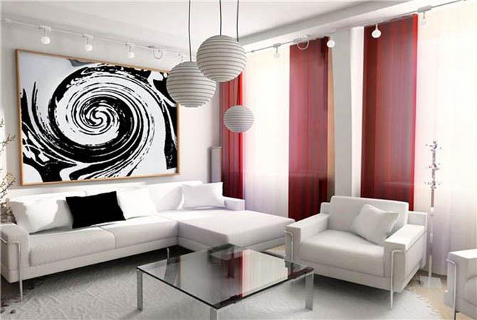 дизайн интерьера гостиной маленькая квартира пример