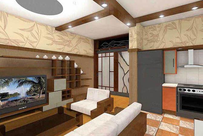дизайн проект комнаты со скатной крышей