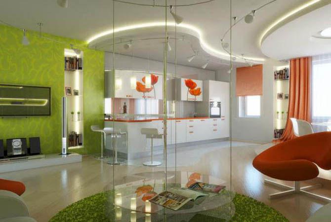дизайн интерьера типовой трехкомнатной квартиры серия п-44т
