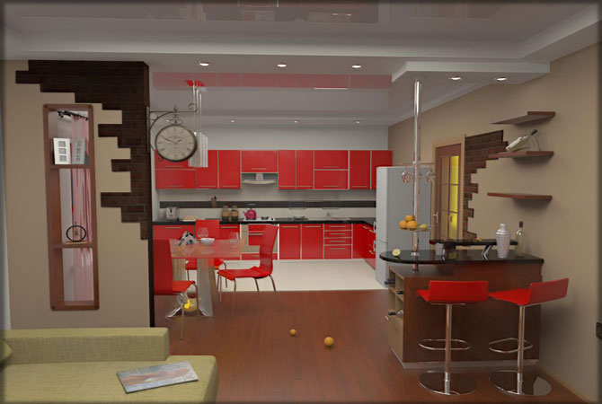 дизайн 2-х комнатной квартиры на окской