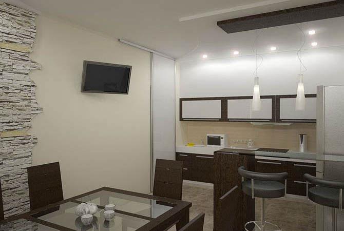 дизайн однокомнатой квартиры 44 43м2