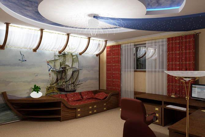 дизайн проект комнаты для двух подростков